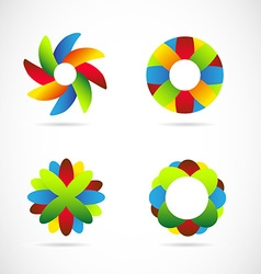 Colored logo icon elements set vector image