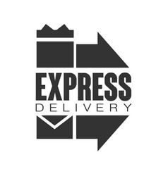 express delivery logo design template black vector image vector image