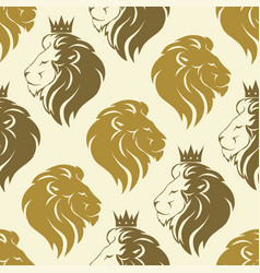 lion head seamless pattern vector image