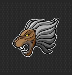 lion logo design template lion head icon vector image vector image