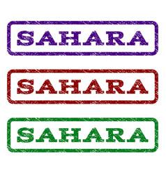 sahara watermark stamp vector image vector image