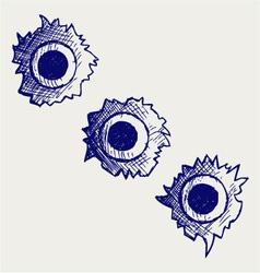 Bullet holes vector