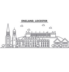 england leicester architecture line skyline vector image