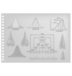 paper art of standard deviation diagrams with popu vector image vector image