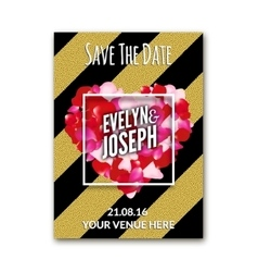 Wedding invitation decoration wit rose petals and vector image vector image