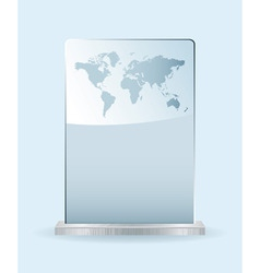 world glass award vector image