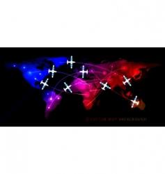 air travel flight vector image vector image