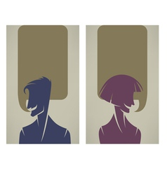 tallking people vector image vector image