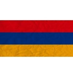 Armenia paper flag vector image vector image
