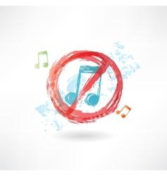 ban music grunge icon vector image vector image