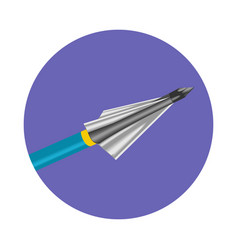 bow arrow icon vector image