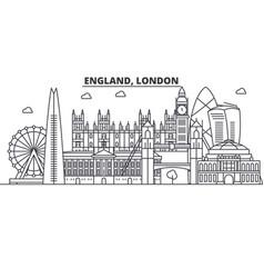 england london architecture line skyline vector image