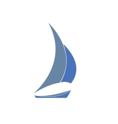 Gray-blue yacht Logo for sailing vector image vector image