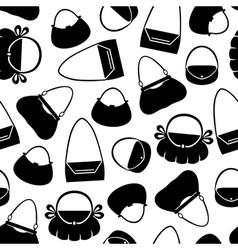handbag pattern vector image vector image