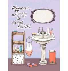 Hygiene is a key to good health vector