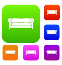 sofa set collection vector image