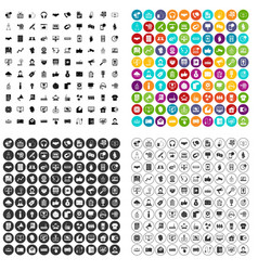 100 data exchange icons set variant vector