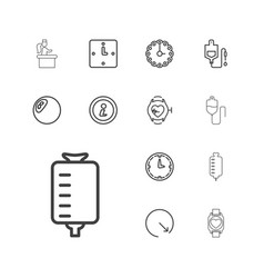 13 counter icons vector