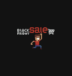 8bit black friday vector