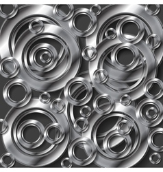 Abstract metallic silver background vector image