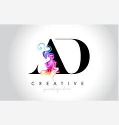 Ad vibrant creative leter logo design vector
