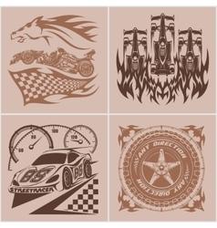 Auto racing emblems - Sport car logo vector