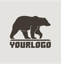 bear logo sign pictograph vector image