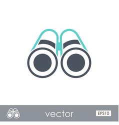 Binoculars outline icon summer marine vector