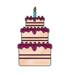 birthday pastry icon image vector image