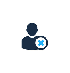 Block user logo icon design vector