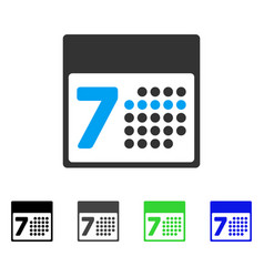 Calendar week flat icon vector