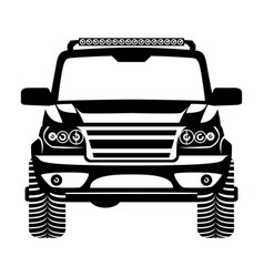 car 4x4 suv logo vector image