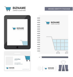 cart business logo tab app diary pvc employee vector image