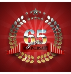 Celebrative Golden Frame for 65th Anniversary vector image