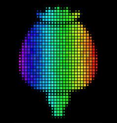 Colored pixel opium poppy icon vector