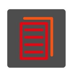 Copy Document Rounded Square Button vector