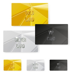 Crystal structure metal premium card collection vector image