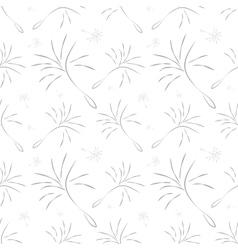 Dandelion Seamless Pattern vector image