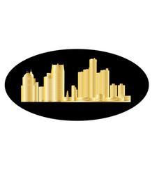 Detroit city skyline vector