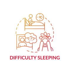 Difficulty sleeping concept icon vector