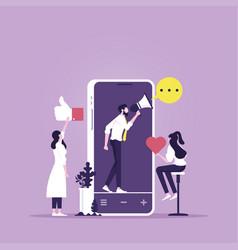 digital marketing online concept vector image