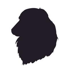 Dog portrait silhouette vector