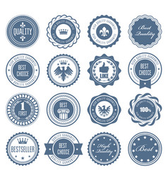 emblems badges and stamps - awards and seals vector image