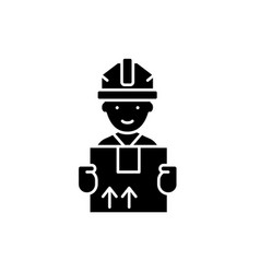 express delivery black icon sign on vector image