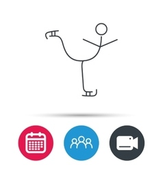 Figure skating icon Professional winter sport vector