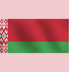 flag of belarus - vector image