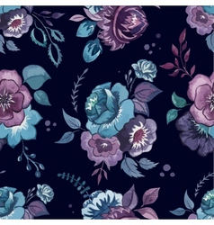 flowers watercolor pattern wallpaper textile vector image