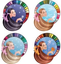 four season type girl vector image vector image