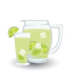 Glass of mojito vector image