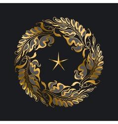 gold wreath Art Nouveau style vector image